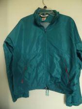 LL Bean Women's Light Wind Breaker Rain Jacket Teal Size Large