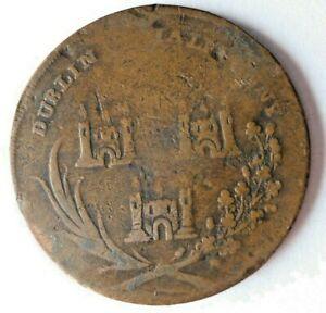 1795 IRELAND (DUBLIN) 1/2 PENNY - God Grant Peace - RARE TYPE - Lot #A3