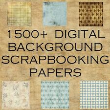 1500+ DIGITAL SCRAPBOOKING PAPERS BACKGROUNDS BACKDROPS CARDMAKING IMAGES on DVD