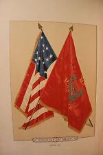 RARE Civil War Folio Flags 1887 1st Edition Army Confederate Union Grant Sherman