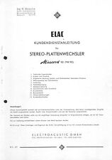 Elac Service Manual für Miracord 90 - PW 90