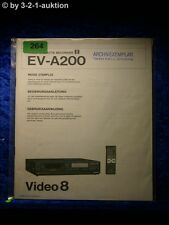 Sony Bedienungsanleitung EV A200 Video8 Cassette Recorder  (#0264)