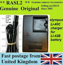 Genuine Original OLYMPUS CHARGEUR Li-40C Li42b Stylus FE-5500 FE-190 SP-700 IR300