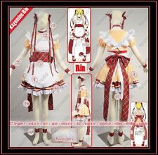 VOCALOID 2 Kagamine Rin Maid Cosplay Costume Custom Any Size