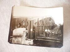 PHOTO ORIGINALE CONSTRUCTION PONT SUSPENDU VERS 1930 A IDENTIFIER ?