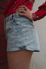 Damen kurze Jeans Shorts blau stonewash  hotpants 80sTRUE VINTAGE jeans trousers
