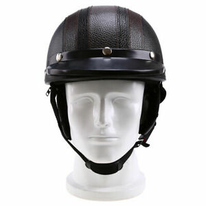Vintage Unisex Half Helmet with Adult Goggles Off Road Motorcycle Fit For
