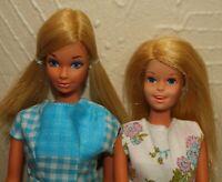 Vintage Mod Era Lot of 2 MALIBU PJ & FRANCIE Dolls w/ Mommy Made Outfits JAPAN