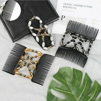 Women Styling Hairpin Beaded Comb ToolDouble  Magic Hair Clip Elastic Jewelry