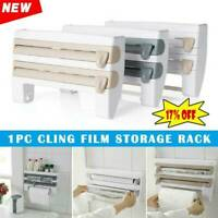 Multifunction Film Storage Rack Cutter DIY For Kitchen Nail Free Kitchen Tools