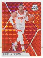 Russell Westbrook 2019-20 RED MOSAIC PRIZM Veterans Card #134 Houston Rockets SP