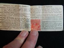 EARLY COMMONWEALTH OF AUSTRALIA 2 PENNY STAMP BOOKLET WITH ONE STAMP ATTACHED