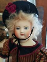 Antique Style Silk Dress, Hat for your 15 Inch Huret/Barrois/French Fashion Doll