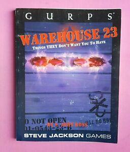 GURPS WAREHOUSE 23 - RPG ROLEPLAYING STEVE JACKSON GAMES CONSPIRACY ILLUMINATI