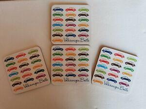 Volkswagen Beetle 4 Piece Coaster Set-Officially Licensed Brand New