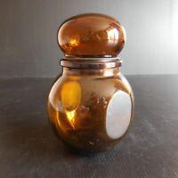 Flacon verre orange ambre LEVER CONTAINER made in BELGIUM vintage art déco N4868