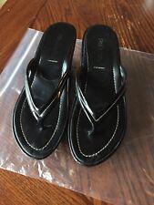 Prada Platform Flip Flops Sandals Slide Ons 37 7