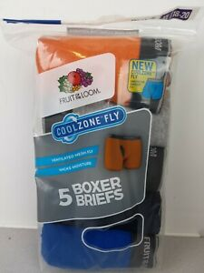 Boys Fruit Of The Loom Cool zone Fly 5 boxer briefs size XL(18-20) - NWT