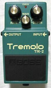 Used Boss Tremolo TR-2 Tremolo Guitar Effect Pedal