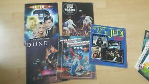JOBLOT STICKER ALBUMS 5 IN TOTAL INC RETURN OF THE JEDI DOCTOR WHO