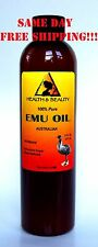 EMU OIL AUSTRALIAN TRIPLE REFINED by H&B Oils Center ORGANIC 100% PURE 8 OZ
