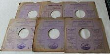 "10"" 78 rpm card gramophone record sleeves X 6 -The Gramophone Depot Birmingham"
