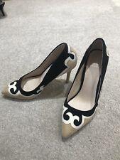 Dune Suede Applique Type Patterned Stiletto Shoes