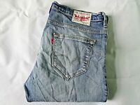 "LEVIS 506 Mens Jeans Blue Stretch Denim Straight SIZE W38 L34 Waist 38"" Leg 34"""