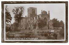 Scotland Haddington Parish Church from SW Real Photo Vintage Postcard 14.12