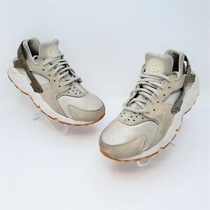 Nike Air Huarache Run Womens Beige Gray Running Shoes Sneakers Size 9 833145-001