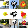 1x Car Antenna Smiley Honey Bee Skull Smile Aerial Ball Cat Pilot Decor Topper