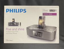 Philips DC290B RISE AND SHINE iPhone Speaker Dock Station Clock Radio