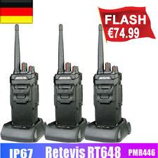 3XPMR446 IP67 WalkieTalkie Retevis RT648 Funkgerät VOX-Notfallalarm CTCSS&DCS