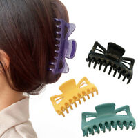 Fashion Glossy Hair Claw Clip for Women Tough Colorful Plastic Hair Claw Large