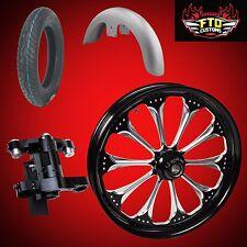 "Harley 26 inch Big Wheel Builder kit, Wheel, Tire, Neck, & Fender, ""Wizard"""