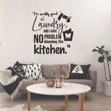 Cleaning Kitchen Laundry Room Quote Vinyl Wall Art Sticker for Home Room Decals