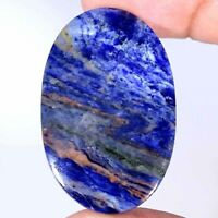 41.60Cts Natural Blue Sodalite Oval Cabochon Loose Gemstone