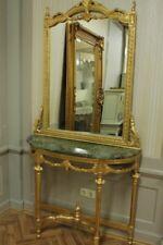 Barock Konsole Antik Stil mit Spiegel u. marble plate AwKs0181GoGn