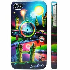 FrozenDNA Apple iPhone 4 4S Hard Case Snap on Plastic Back Cover London by Night