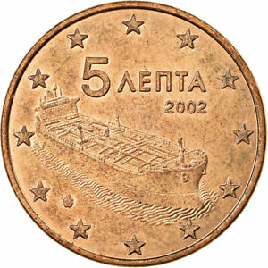 [#700790] Grèce, 5 Euro Cent, 2002, SUP, Copper Plated Steel, KM:183