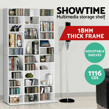 DVD CD Video Games Storage Shelf Rack Stand Home Office Cupboard Book Unit White