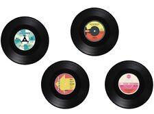 Vinyl-Untersetzer Schallplatte 4er Set Single Glasuntersetzer Tischdeko Coaster
