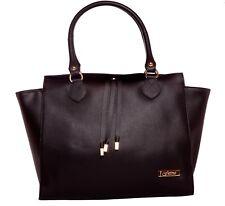 Bassira Black Palmelato Italian Leather Tote Handbag/Office Bag/Oversize Bag/