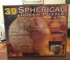 3D Spherical Jigsaw Puzzle Antique Globe 530 Pieces New in Sealed Box 1998