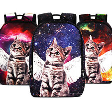 Fashion Womens Ladies Cat Wing College Shoulder Backpacks Rucksack Bookbags Bag