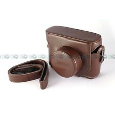 Leather Camera Case for FUJIFILM FUJI FINEPIX X10 X-10 X20 X-20 BROWN