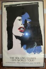 Rolling Stones New Orleans Superdome 1978 Tour Poster by Danny Resnic