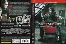 SWEENEY TODD - IL DIABOLICO BARBIERE DI FLEET STREET [2007] dvd ex noleggio