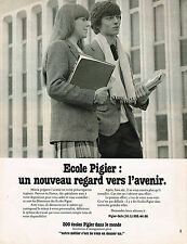 PUBLICITE ADVERTISING 045  1979  ECOLE PIGIER   un nouveau regard vers l'avenir