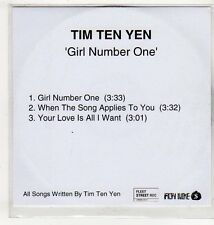 (EV597) Tim Ten Yen, Girl Number One - DJ CD